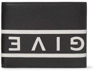 Givenchy Logo-Appliquéd Full-Grain Leather Billfold Wallet