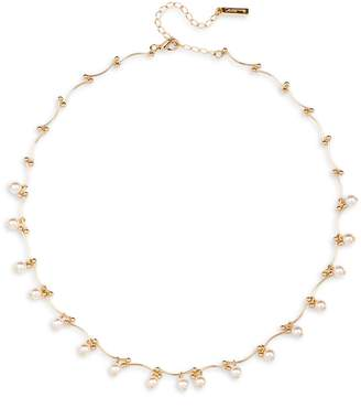Cezanne 5MM Simulated Pearl Tattoo Necklace