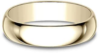 MODERN BRIDE Mens 5mm 18K Yellow Gold Wedding Band