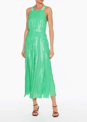 Tibi Sequined Overall Dress