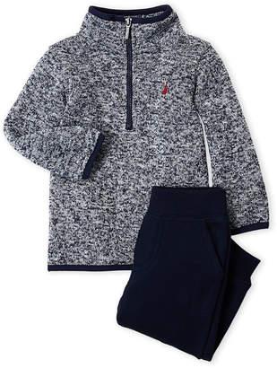 Nautica Newborn Boys) Two-Piece Partial Zip Sweater & Joggers Set