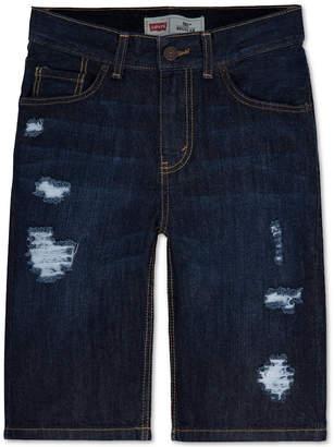 Levi's Frayed Ripped 5-Pocket Denim Shorts, Big Boys