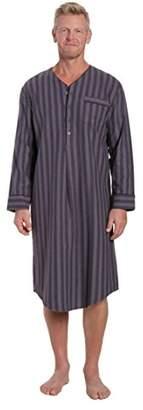 Noble Mount Men's Flannel Nightshirt - -