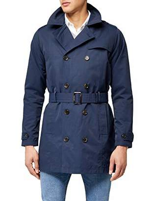 James Tyler Men's Trench Coat with Belt,XL