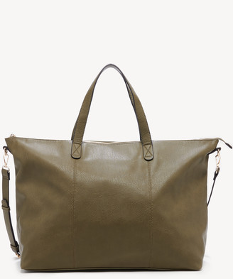 Sole Society Women's Candice Weekender Vegan Leather In Color: Chocolate Combo Bag From