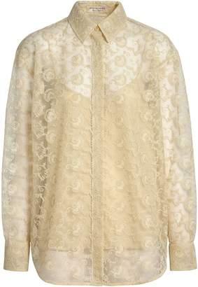 Burberry Floral Lace Shirt