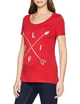 Mama Licious Mamalicious Women's Mlstella S/s Jersey Top A. V. T-Shirt, Multicolour (Lipstick Red Snow White AOP), (Size: Medium)