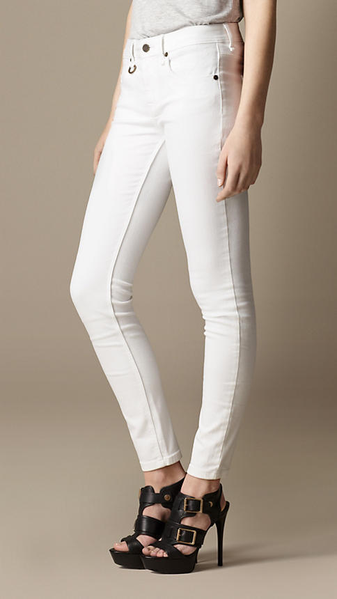 Burberry Westbourne White Skinny Fit Jeans