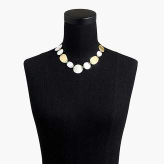 J.Crew Oval-and-circle necklace