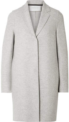 Harris Wharf London Oversized Wool-felt Coat - Light gray