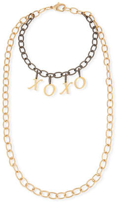 XOXO Hipchik Eugene Two-Tone Chain Necklace