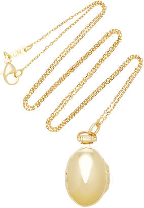 Monica Rich Kosann Anna 18K Gold Locket Necklace