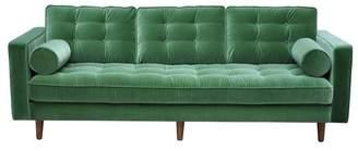 Green Velvet Evie 3 Seater Sofa