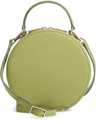 OAD New York Mini Circle Pebbled Leather Satchel
