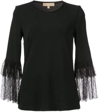 Michael Kors lace sleeve blouse