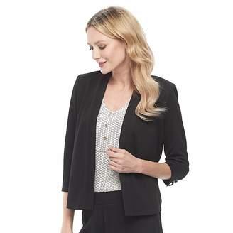 Dana Buchman Women's Travel Anywhere Jacquard Open-Front Jacket