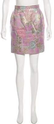 Christian Lacroix Metallic Floral Skirt