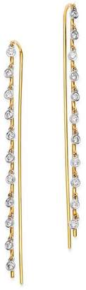 Meira T 14K Yellow Gold & 14K White Gold Bezel-Set Diamond Dangle Thread Through Earrings