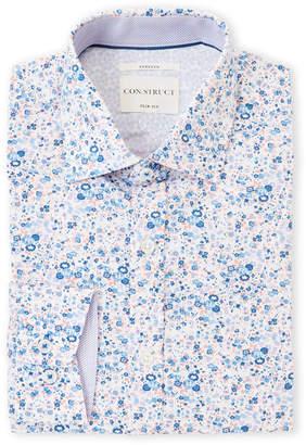 Con.Struct Blue & Pink Liberty Floral Slim Fit Dress Shirt