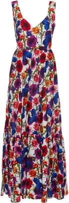 Borgo de Nor Matilde Floral-Print Silk And Cotton Maxi Dress