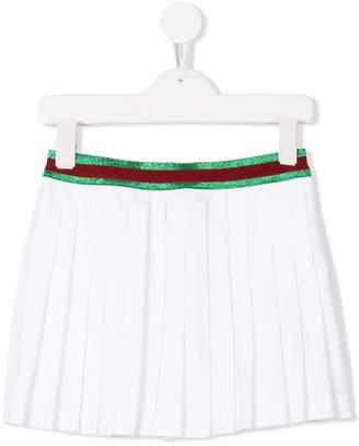 Sylvie Gucci Kids web pleated skirt