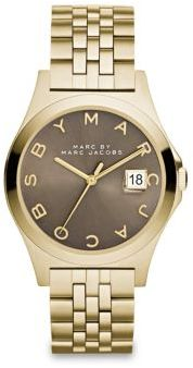 Marc by Marc Jacobs Henry Slim Goldtone Stainless Steel Bracelet Watch/Dirty Martini $250 thestylecure.com