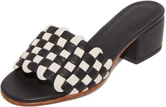 Rachel Comey Pentz Woven Leather Mules $472 thestylecure.com