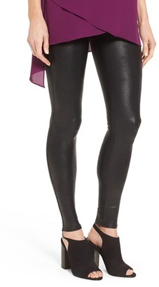 SPANX ® Faux Leather Leggings $98 thestylecure.com