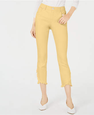 INC International Concepts Inc Tulip-Hem Skinny Ankle Jeans