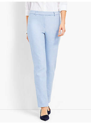 Talbots High-Waist Straight-Leg-Sharkskin