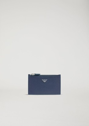 Emporio Armani Cardholder In Boarded Leather