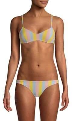 The Rachel Striped Bikini Top