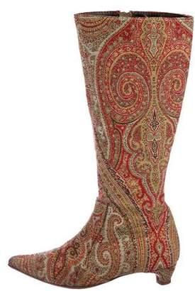 Etro Paisley Knee Boots