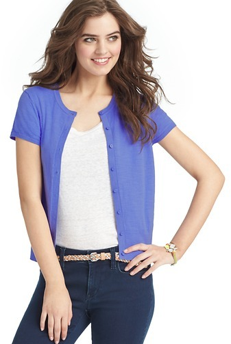 LOFT Petite Short Sleeve Cotton Cardigan