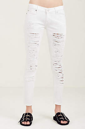 True Religion Casey Low Rise Super Skinny Ripped Womens Jean