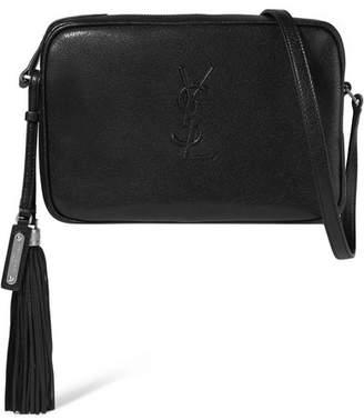 Saint Laurent Monogramme Lou Medium Textured-leather Shoulder Bag
