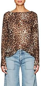 Nili Lotan Women's Harper Leopard-Print Silk Blouse - Leopard Print