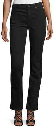 7 For All Mankind Jen7 By Riche Touch Slim Straight Jeans, Black Noir
