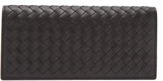 Bottega Veneta Intrecciato Leather Wallet - Mens - Black