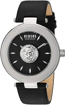 Versus By Versace Women's 'Brick Lane' Quartz Stainless Steel and Leather Casual Watch