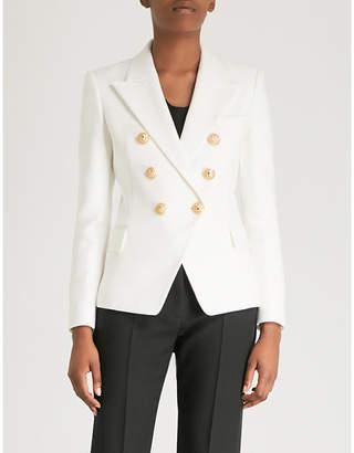 Balmain Double-breasted cotton-piqué jacket