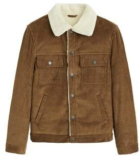 Mango man MANGO MAN Faux shearling-lined corduroy jacket