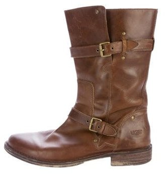 UGG Australia Leather Mid-Calf Boots $80 thestylecure.com