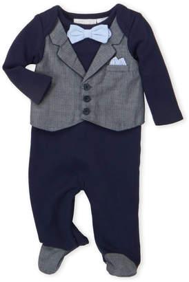 Koala Baby Newborn Boys) Navy Vested Footie