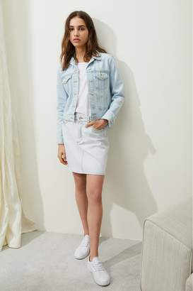 French Connenction Macee Micro Western Denim Jacket
