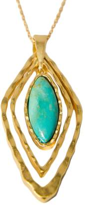 Christina Greene - Deco Geo Necklace in Turquoise