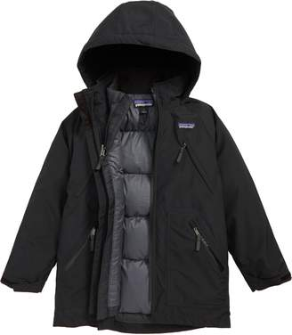 Patagonia Tres Water Repellent 3-in-1 Recycled Down Parka