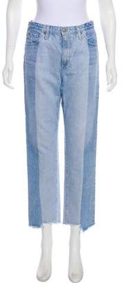 Adriano Goldschmied High-Rise Two-Tone Jeans
