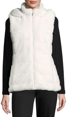 Liz Claiborne Hooded Quilted Vest
