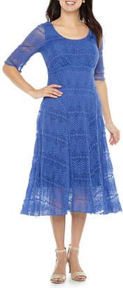 Rabbit Rabbit Rabbit DESIGN Design Short Sleeve Lace Fit & Flare Dress